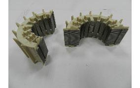 塑膠射出:包射外殼,內埋入鐵片